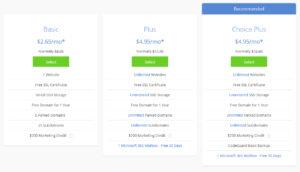 Blurhost WordPress Plans