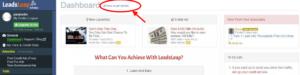 Leadsleap dashboard
