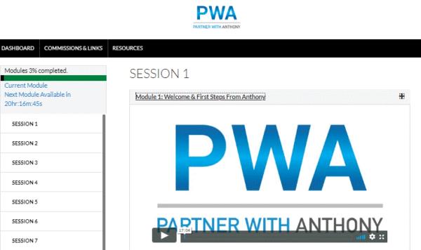 PWA training sessions