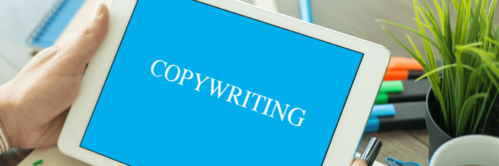 Monitor with word Copywriting