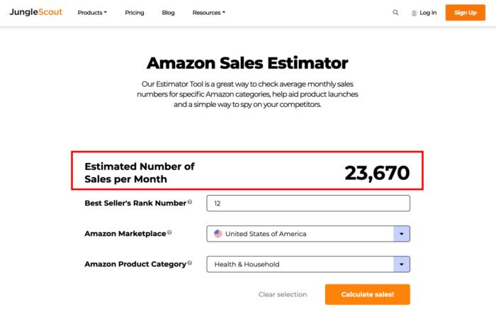 Amazon Sales Esitmator