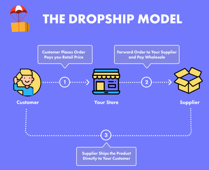 How dropshipping model works