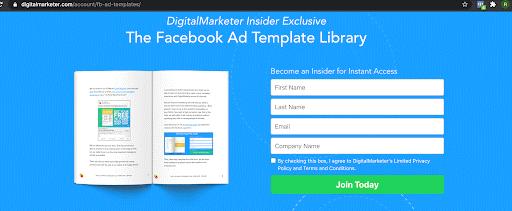 Facebook Ad templates lead magnet