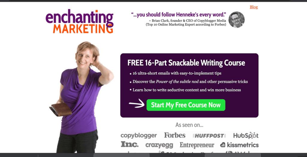 example of a free lead magnet course